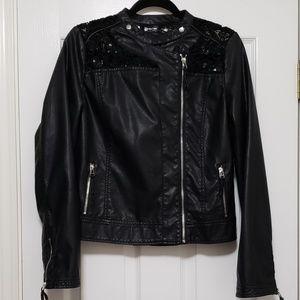 FINAL DROP EUC Blu Pepper Black Jacket L